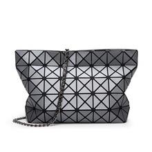 Fashion Women Matte Surface Chain BaoBao Bag Ladies Geometry Folding Tote Bao  Bao Bolsa Crossbody Bags 5fce3e1c92cda