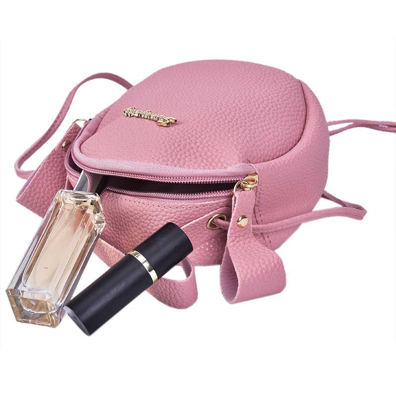 2019 Baru Fashion Circular Handbag PU Kulit Wanita Tas Selempang Tas Wanita Desain Sederhana Messenger Bag