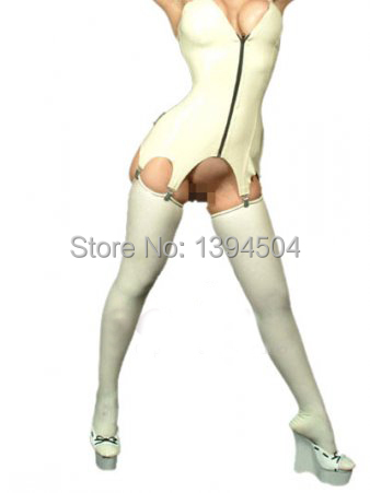 2017 Real Costume Dress Feminina Sexy Latex Socks Women Fetish Stockings Long With Roller Crimping Free Shipping Fast Delivery