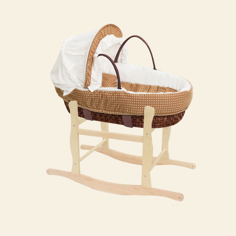 Hand Knitting Baby Portable Bed Crib Cradle Multi-function Soft Breathable Outdoor Travel Cars Baby Cradle Bed Protector