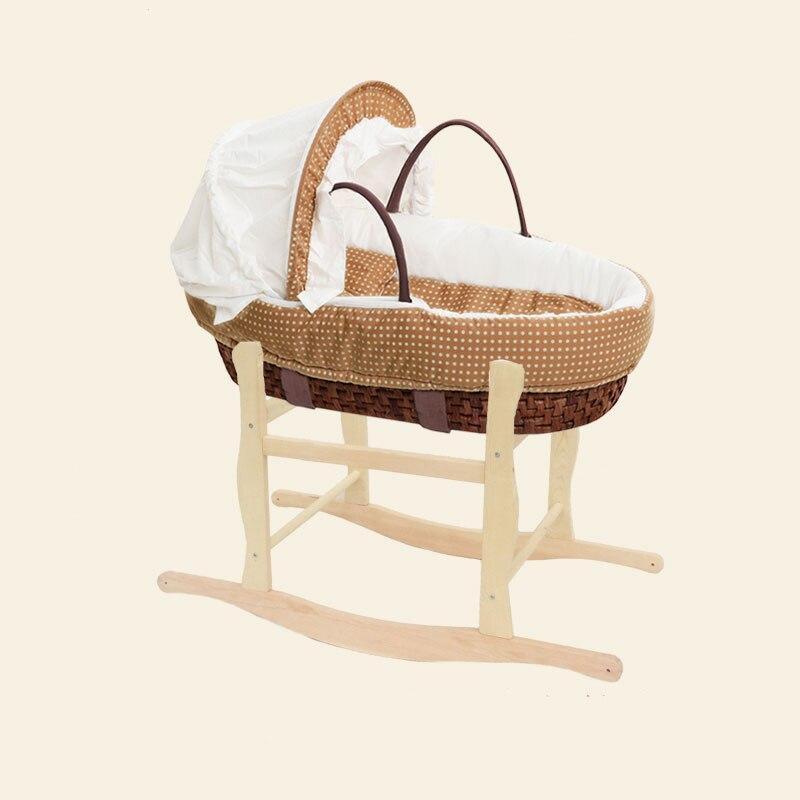Tricoter à la main bébé Portable lit berceau berceau multi-fonction doux respirant en plein air voyage voitures bébé berceau lit protecteur
