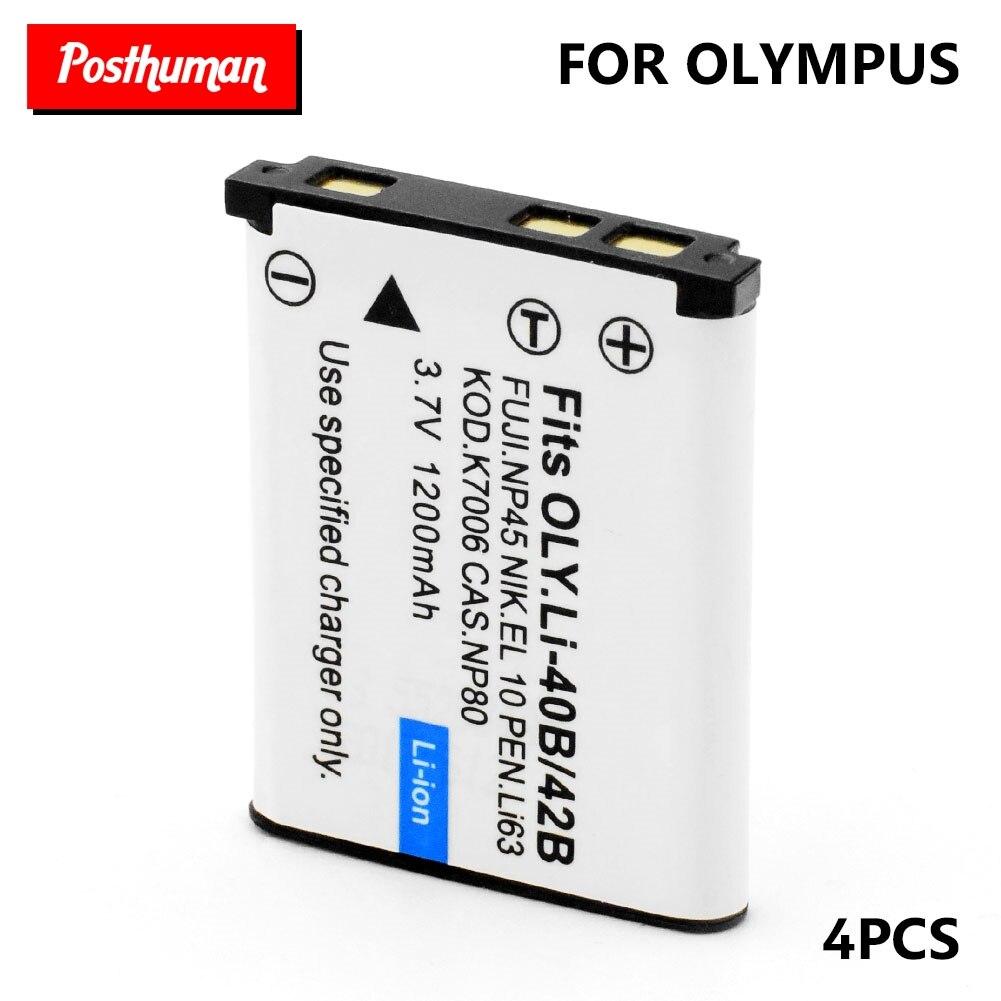 Li-40B Lithium Bateria For Olympus Digital Camera Li-ion Batteries 1200mAh 3.7V Rechargeable Battery IR-300 SP-700 TG-310 VH-210