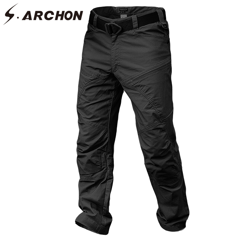 S.ARCHON Winter Waterproof Military Cargo Pants Men US Army Soldier SWAT Combat Pants Man Pocket Cotton Windproof Tactical Pants