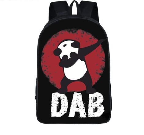 Funny Cartoon Dabbing Panda Cat Backpack For Teens Boys Kids Book Bag Children School Bags Men Women Hip Hop Backpack Book Bag