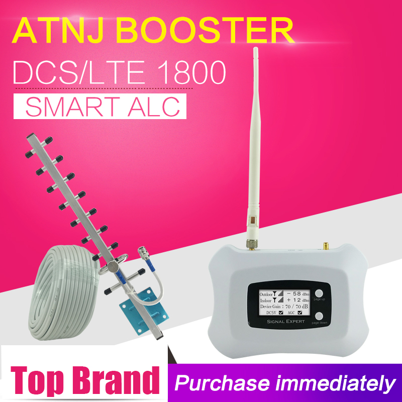 Spain GSM 4G LTE 1800 B3 Cell Phone Signal Booster GSM LTE 1800 Mobile Phone Repeater 4G Cellphone Cellular Amplifier 4G Antenna-in Signal Boosters from Cellphones & Telecommunications