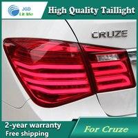 자동차 스타일링 테일 램프 시보레 Cruze 2009-2013 테일 LED 테일 라이트 후면 램프 LED DRL + 브레이크 + 공원 + 신호 정지 램프