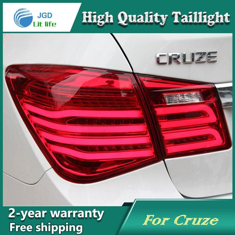 Car Styling Tail Lampe pour Chevrolet Cruze 2009-2013 Feux Arrière LED Feu arrière Arrière Lampe LED DRL + de frein + Parc + Signal D'arrêt de Lampe
