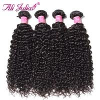 Ali Julia Curly Hair Malaysian Virgin Hair Natural Color 8 26 Inches Human Hair Weaves