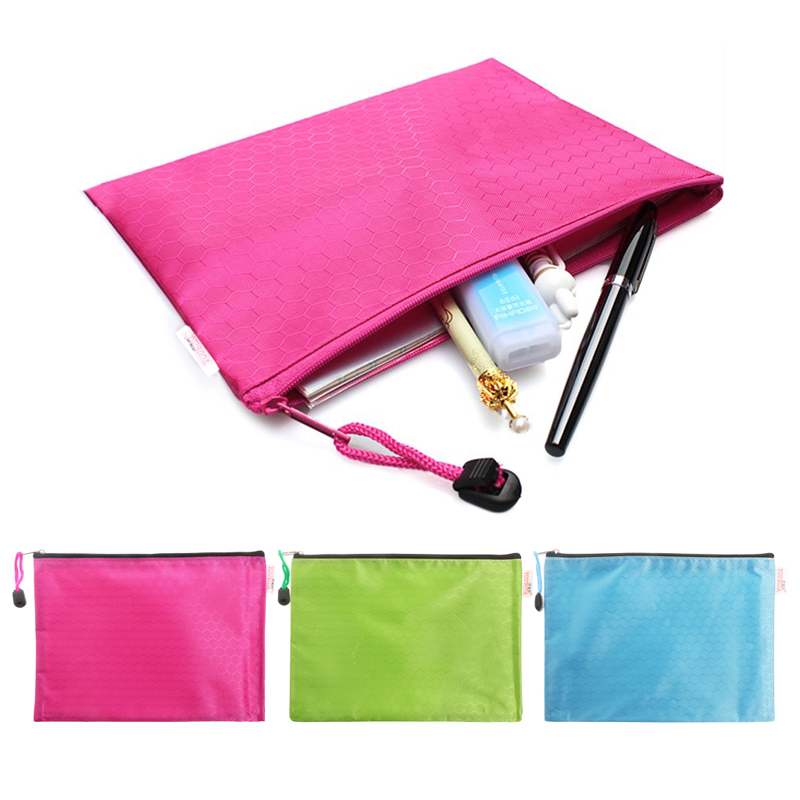 Document Bag A5 Zipper File Pocket Storage Organizer School Office Waterproof