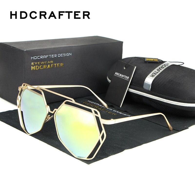 2018 das Mulheres Óculos De Armação De Metal Espelho Revestimento Reflexivo  Lente Plana Marca Designer Óculos de Sol Oculos de sol fc932e5809
