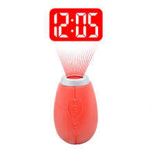 New Mini Small Clock With Time Projection Novelty Digital Handheld Projection Clock Handheld Led Clock Watch Reloj Encendedor