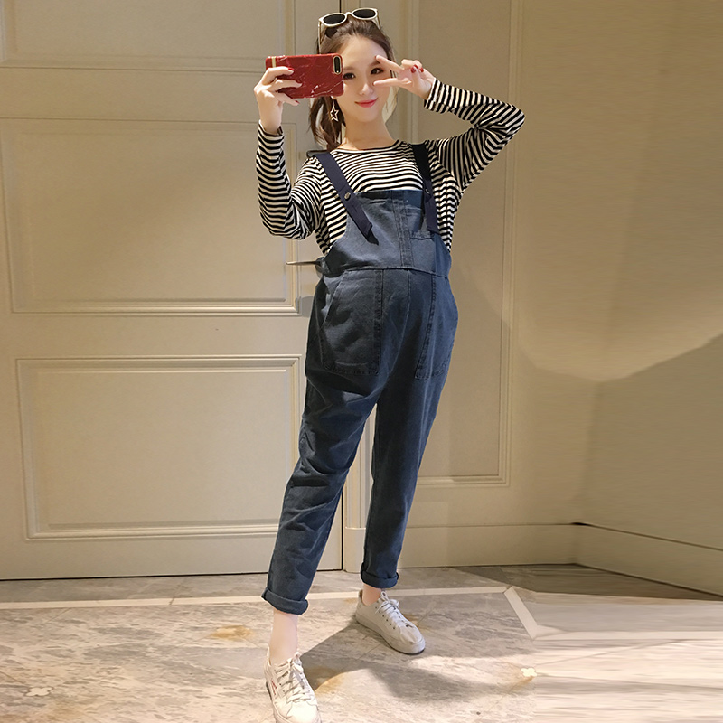 2018 winter maternity overalls pregnancy jumpsuits rompers pregnant women corduroy casual suspender bib pants plus clothes