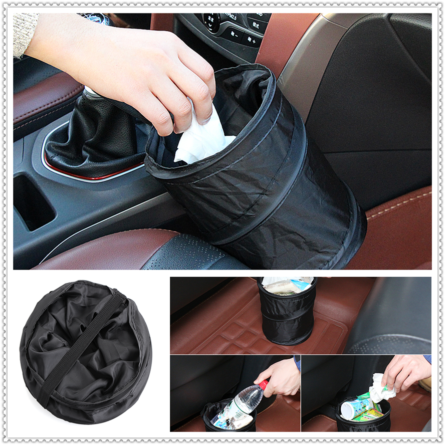 Car Waterproof Trash Can Bag Leak Proof Garbage Side Pocket For