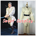 Custom Made Obi-Wan Kenobi White Jedi Tunic Star Wars Cosplay Costume