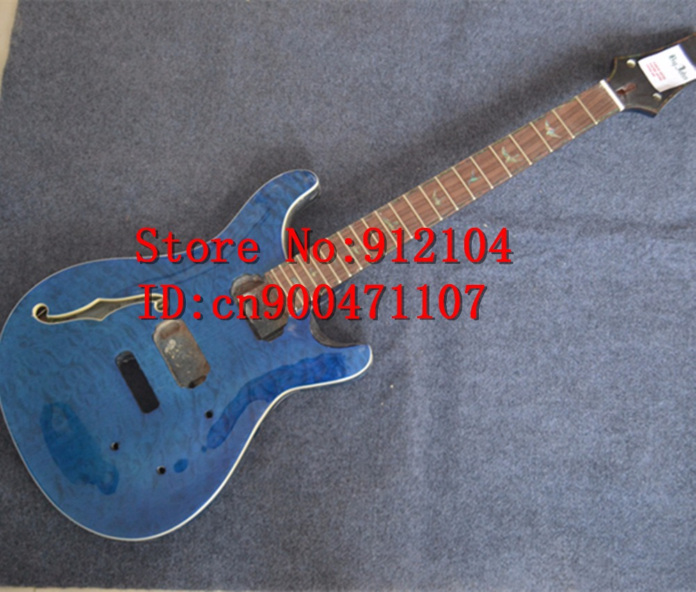 free shipping new semi-finished LP F hole electric guitar with paint without hardware  F-3061