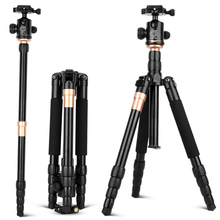 QZSD Q666 Pro Portable Tripod monopod Aluminium accesorios camara deportiva For SLR digital Traveling Load 5kg trepied photo
