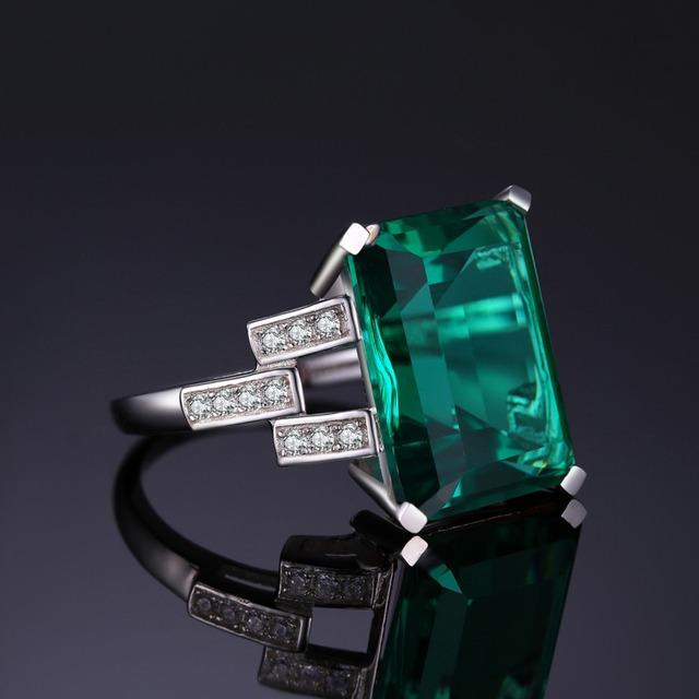 Luxury Created Nano Emerald Ring