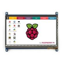 Raspberry Pi 3 wyświetlacz 7 Cal ekran dotykowy HDMI hd lcd TFT 1024*600 (piksel) Monitor dla Raspberry Pi 3 2B B Pcduino Win7 8