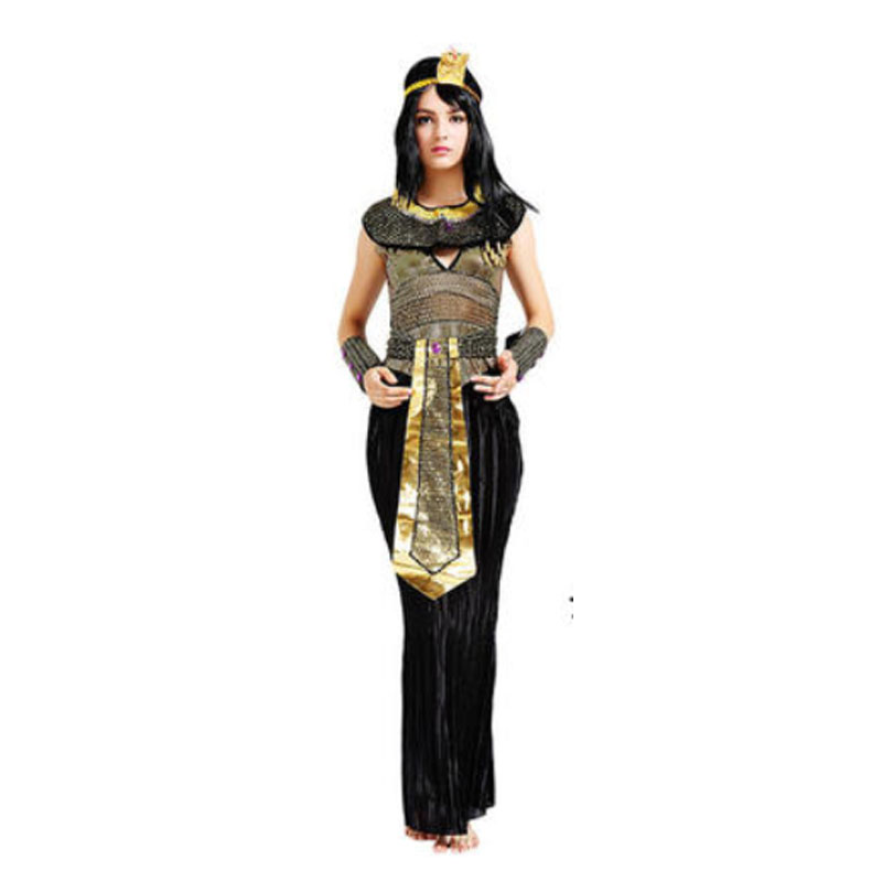 2018 woman lady egypt pharaoh cosplay costume adults performance costumes halloween party dress supplies purim in holidays costumes from novelty special