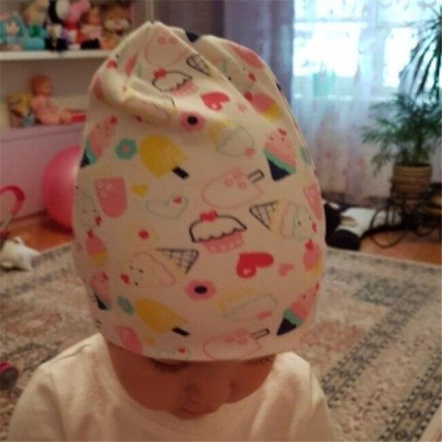 2019 Baby Hat Autumn Winter Children Cotton Scarf Collar Toddler Boy Girl Beanies Infant Kids Newborn Cap Clothing Accessories 1