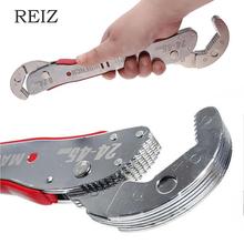 REIZ 9 45mm Double Head Magic Wrench Universal Adjustable Key Multi Function Pipe Torque Spanner Plumbing Nut Grip Repair Tool