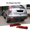Car LED Красный Задний Бампер Отражатель Света для Honda 2012 город, CRV 2007 2008 2009 Accessery СВЕТОДИОДНЫЕ Задние Туман Заднего Вида Заменить лампы