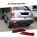 Carro LED Bumper Refletor Luz Traseira Vermelha para Honda 2012 cidade, CRV 2007 2008 2009 Accessery LEVOU Cauda luz de Nevoeiro Reverter Substituir lâmpada