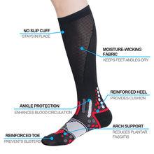 f39124a580 Compressprint Men Professional Compression Socks Breathable Travel  Activities Fit for Nurses Shin Splints Flight Travel(