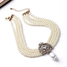 Romantic Party Dazzle Pearl Necklace
