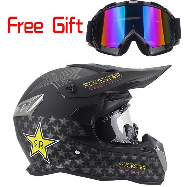 Beste sale Fashion design motorrad helm off-road helme ATV Dirtbike downhill racing motocross capacete free brille