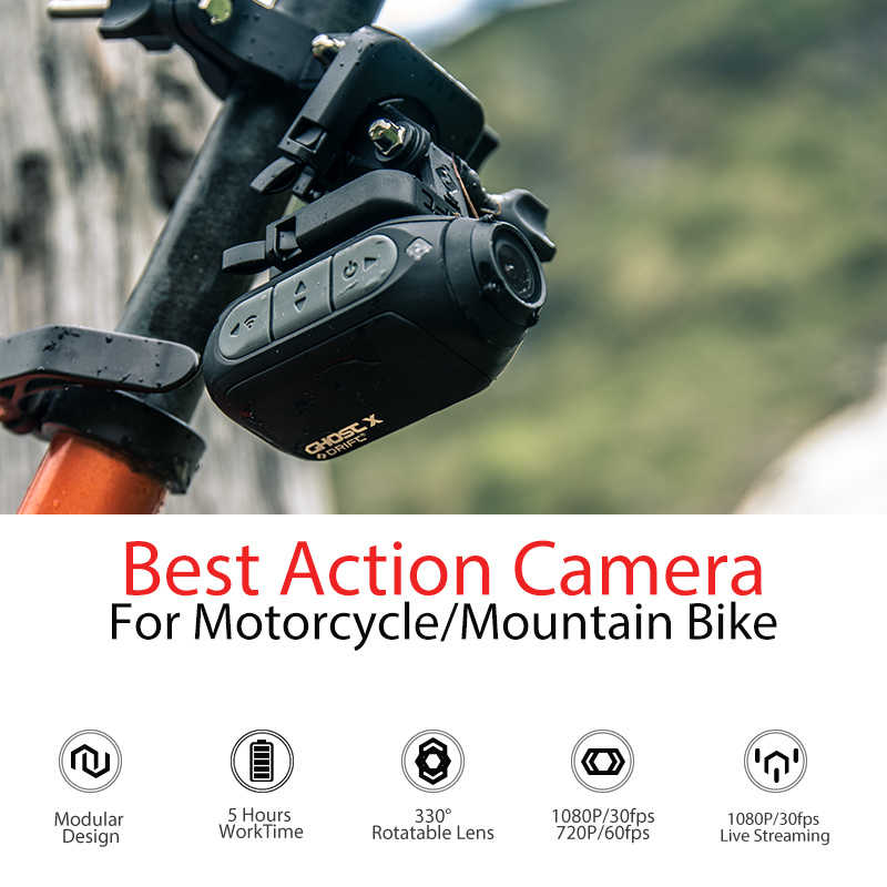 ドリフトゴースト × mcアクションカメラタマゴノキ 1080 オートバイバイクスポーツヘルメットミニカムアーム 12MP cmos回転式レンズwifi