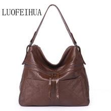 LUOFEIHUA  Leather handbags 2019 new fashion tassel crossbody bag Vintage soft leather female shoulder