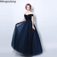 Robe De Soiree Elegant Floor Length V Neck Evening Dresses Net Pleat Lace up Bow Vestido De Festa Formal Gown Long Prom Dresses