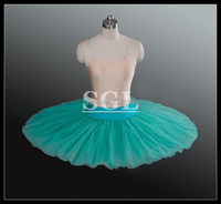 Free Shipping Adult Red Black White Green Pink Color Ballet Half Tutu 8 Layers Hard Tulle