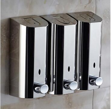 Fashion 1500 ml Capacity 304 stainless steel material wall mounted bathroom soap dispenser hotel products accessories martin logan ml 66i in wall