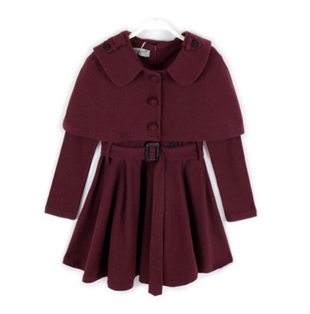 abc15392a967 Woolen Two Piece Dress Set for Girl with Long Sleeves Warm Winter ...
