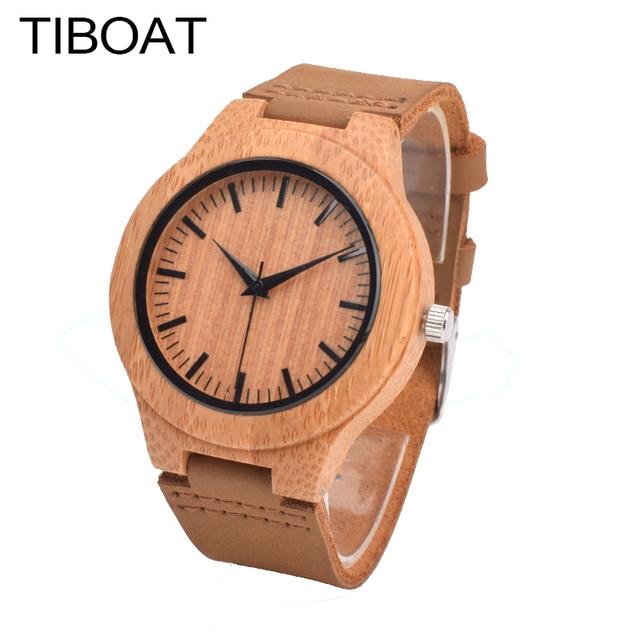 9bada0cb20b571 TIBOAT Drewna Zegarek bransoleta Zegarka Kobiet zegarki damskie Moda  Drewniane Zegarek dla Dziewczyny Małe i Proste