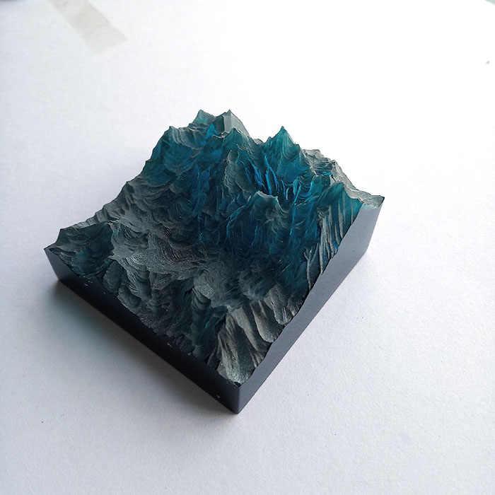 Molde de silicone para joias, artesanato decorativo de silicone flor seca de resina