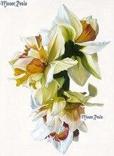 MOONCRESIN 5D Diamond White Gardenia Embroidery Needlework Diy 3D Painting Cross Stitch Decoration Sticker Kit