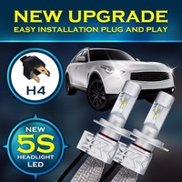 Pair 5S Turobo H4 H7 9004 9005 9006 9007 9008 H8 H9 H11 H13 PHiLIPSLed Headlight Bulb H/L Beam 80W 8000lM 6500K White Canbus Car