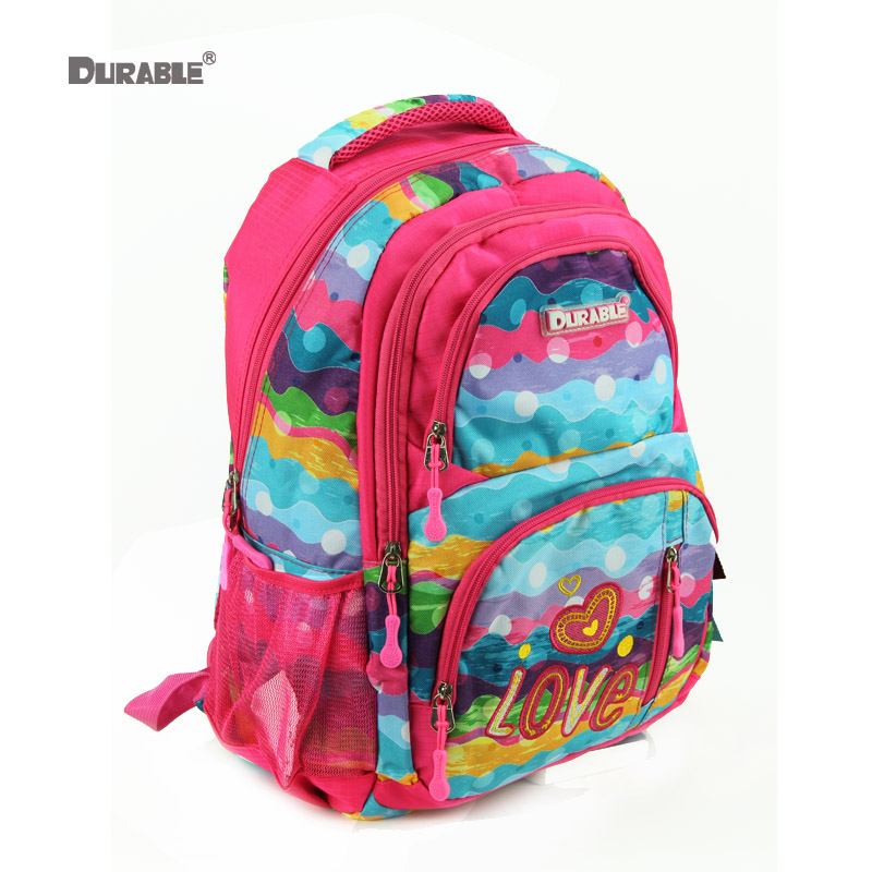 Durable Water Wave Rainbow Color Printed Backpack Large Capacity School Book Bag Strong Bearing S Student Schoolbag In Bags From Luggage