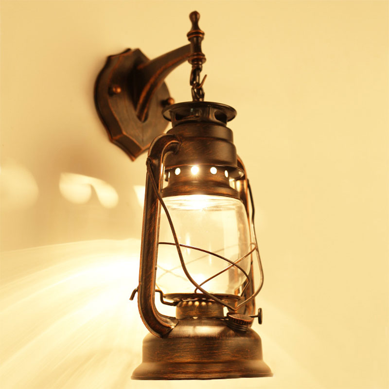 цены ZINUO Retro LED Wall Lamp Vintage Glass European Kerosene Lamps Beside Light Fixture For Bar Coffee Shop Bathroom Sconce