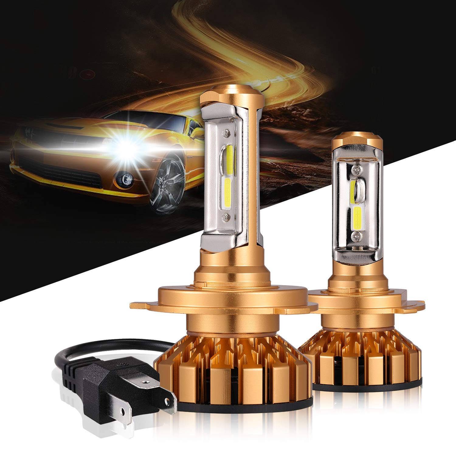 NEW STYLE COB LED Headlights 180W Bulbs White 6000k For H4 H7 H1 H8//H9//H11 9006