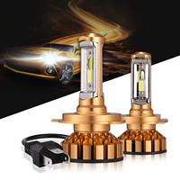 H1 H3 H7 9006 9005 9012 H4 LED Headlight Bulbs 50W 10000 Lumens 6000K Xenon White Extremely Bright COB Chips Led Conversion Kit