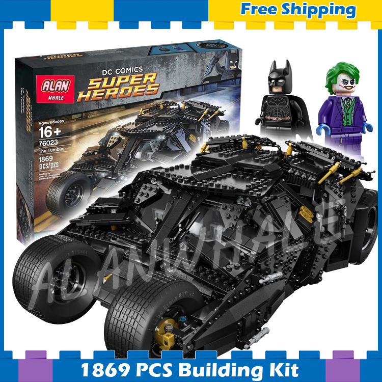 1869pcs Super Heroes Batman Movie The Tumbler Joker 34005 Model Building Blocks Boys Gifts Sets Superman Compatible With Lego building blocks super heroes back to the future doc brown and marty mcfly with skateboard wolverine toys for children gift kf197