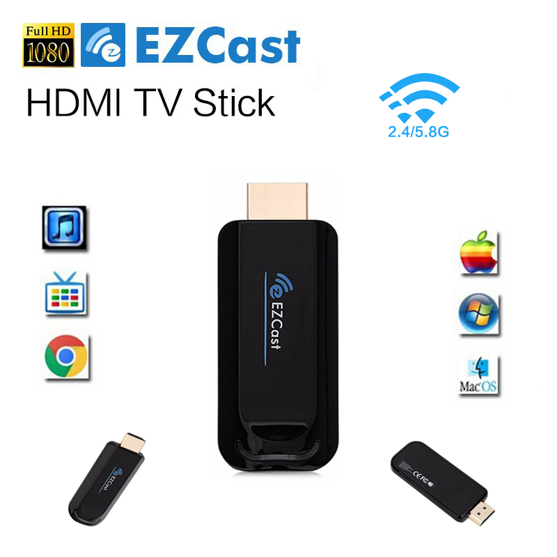 100% HDMI 5G TV Dongle EZCast A1 TV Stick Miracast Smart Box DLNA Mirror2 Airplay Media Player For IOS Windows Android Tablet Pc