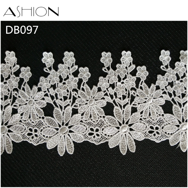 3 yards 90MM white Embroidered Lace Fabric DIY skirt hem Dance costumes  Garment Accessories lace trim