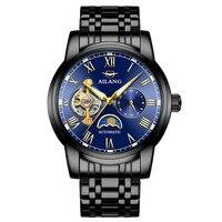 AILANG 8602 Швейцария часы мужчины люксовый бренд Moon phase автоматические спортивной защиты силиконовые часы Erkek корпоративной saatleri