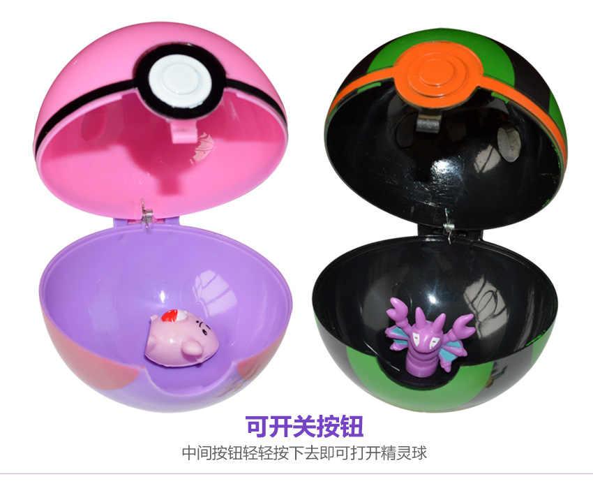 1pc Pokeball おもちゃ開閉 7 センチメートルアクションフィギュア Pokeball ベイブ偉大なマスター Gs ボール