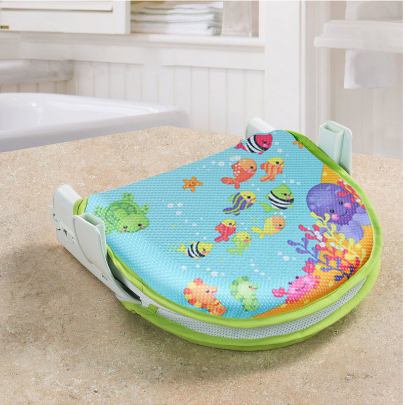 Collapsible Baby Bath Seat for Infant Safety Bath Supports Non-slip Bath Mat for